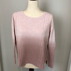 American Eagle Outfitters Pink Ombre Sweater Small